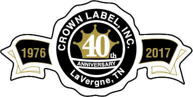 crown label, inc. - 40 year badge